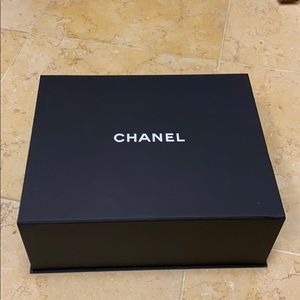 Chanel Box with ribbon and Camellia